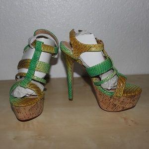 Shoedazzle Ileah Stiletto Platform Sandal Size 6.5